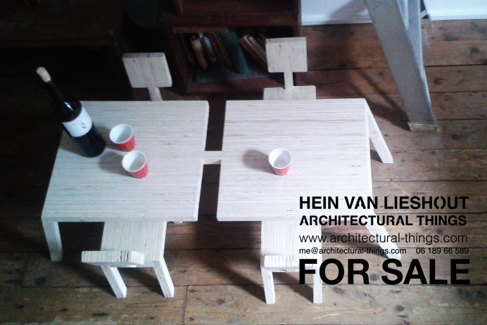Hein van Lieshout - CHAIRS and TABLE 4SALE